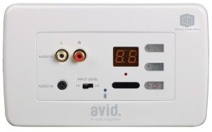 Meeting Room AV In Wall Amplifier Controls