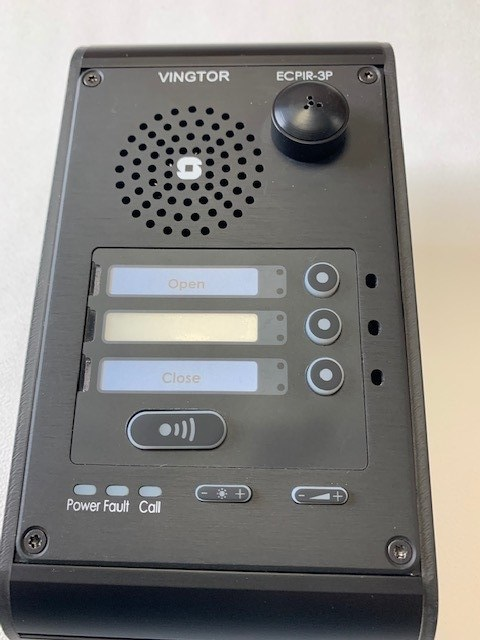 3 Button IP Desk Station, ECPIR-3P, 1023200033, Surface Mount Microphone